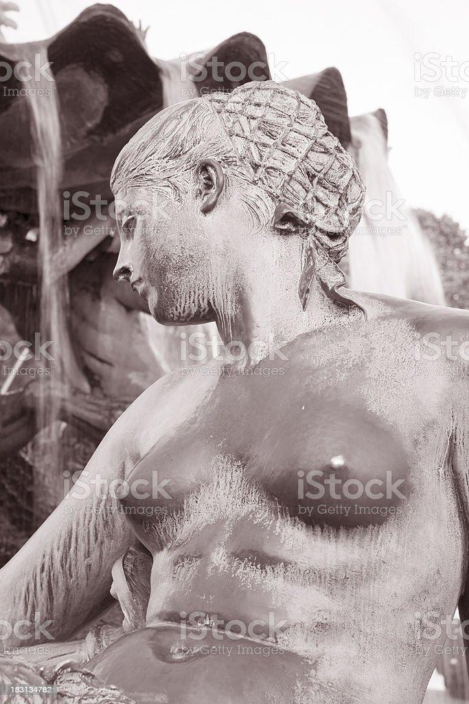 Neptune Fountain, Alexanderplatz Square, Berlin royalty-free stock photo