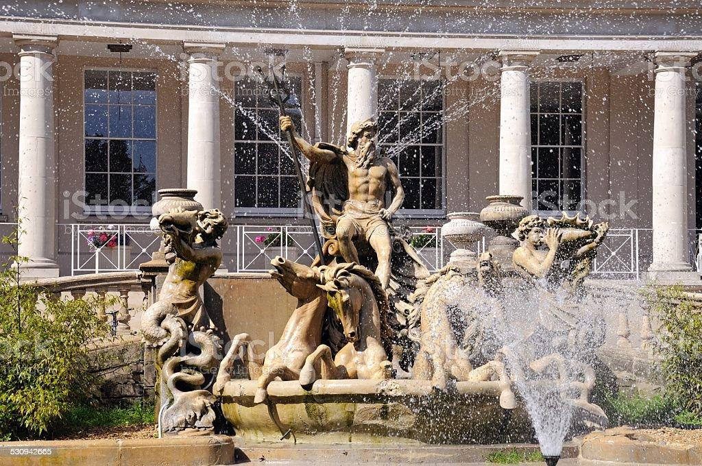Neptune fountain, Cheltenham. stock photo