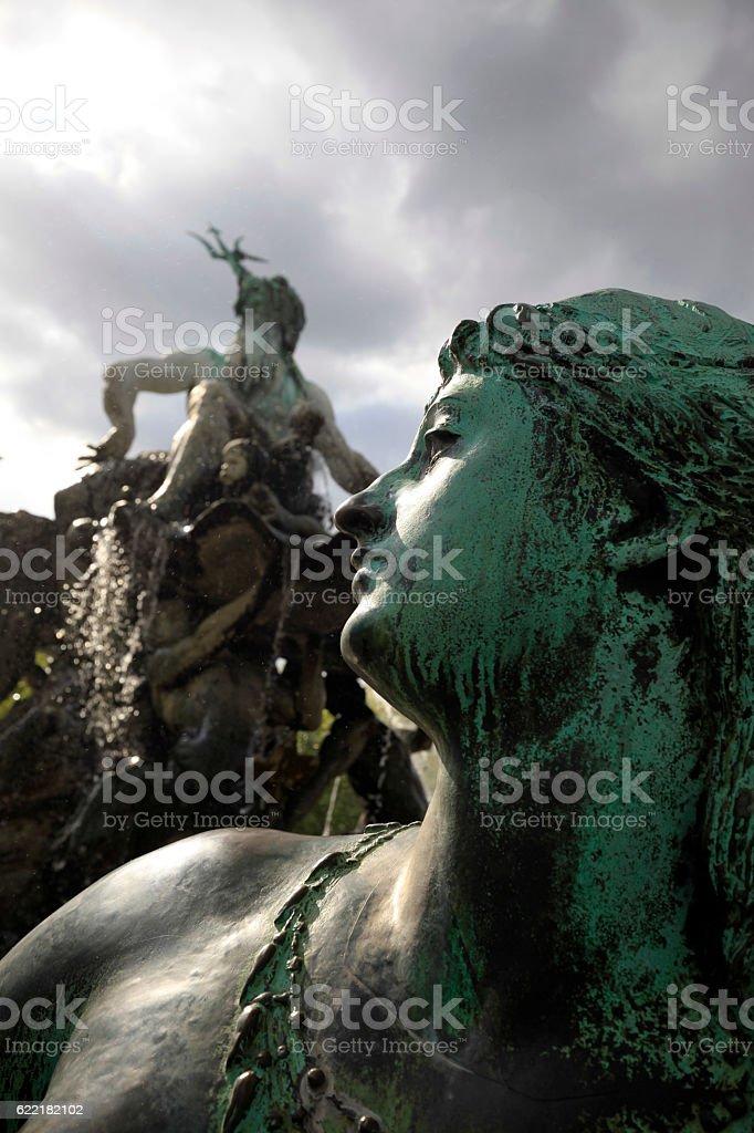 Neptune Fountain in Berlin stock photo
