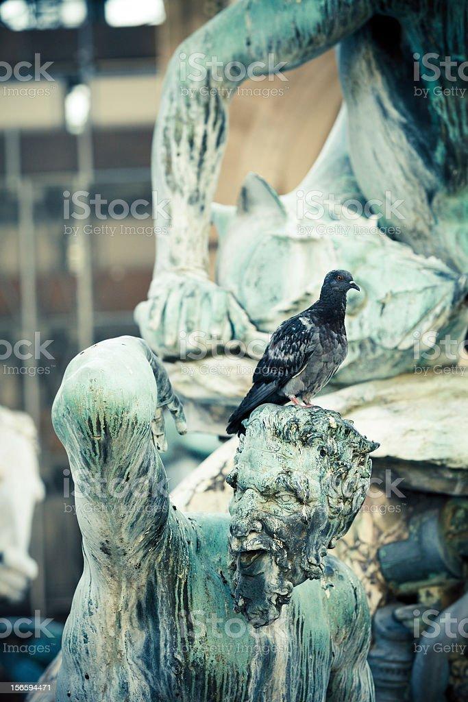 Neptune Fountain in Piazza della Signoria royalty-free stock photo