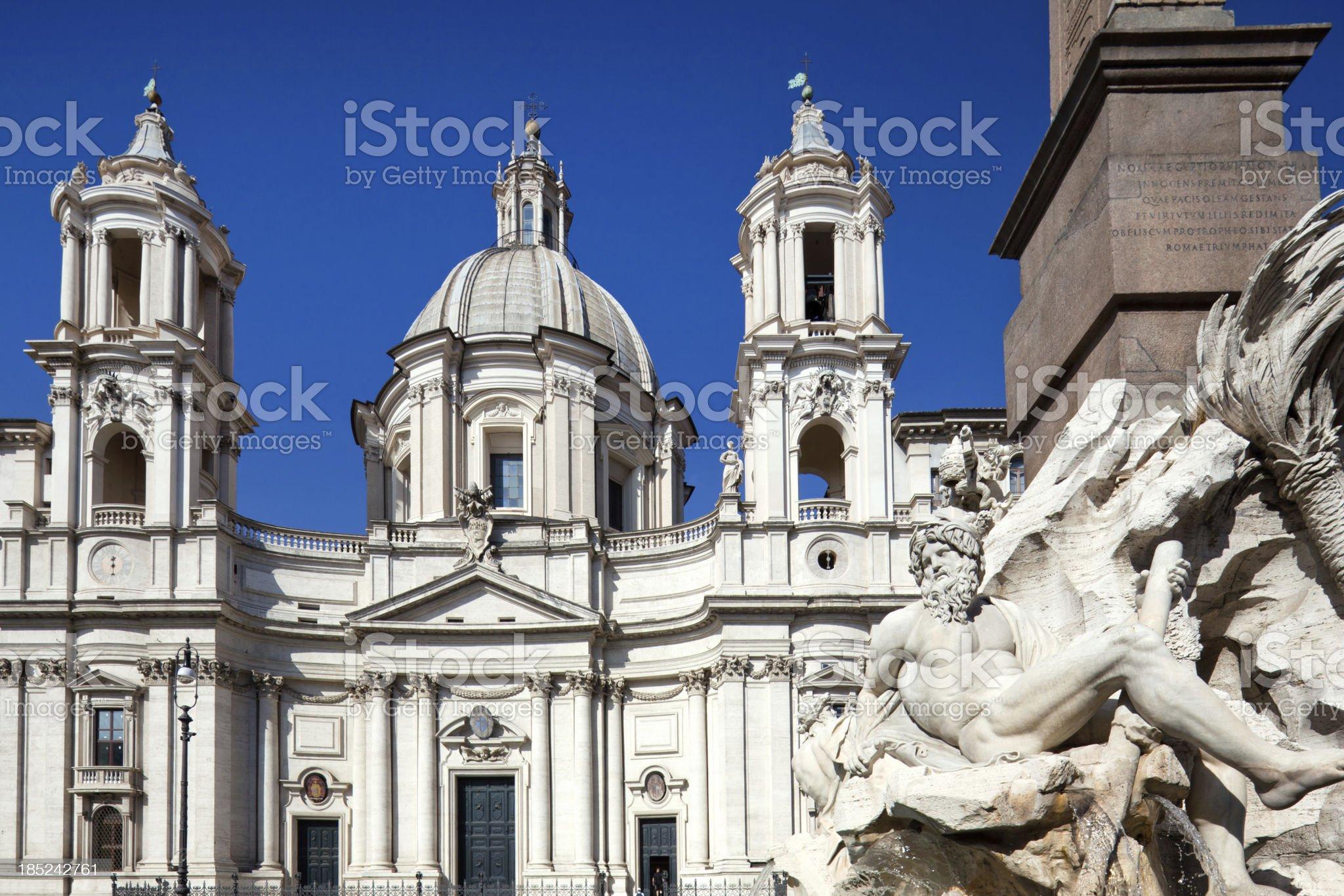 Neptune Fountain in Rome, Italy royalty-free stock photo