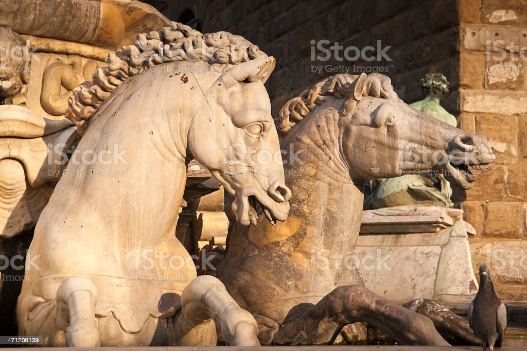 Neptune Fountain on Piazza della Signoria in Florence royalty-free stock photo