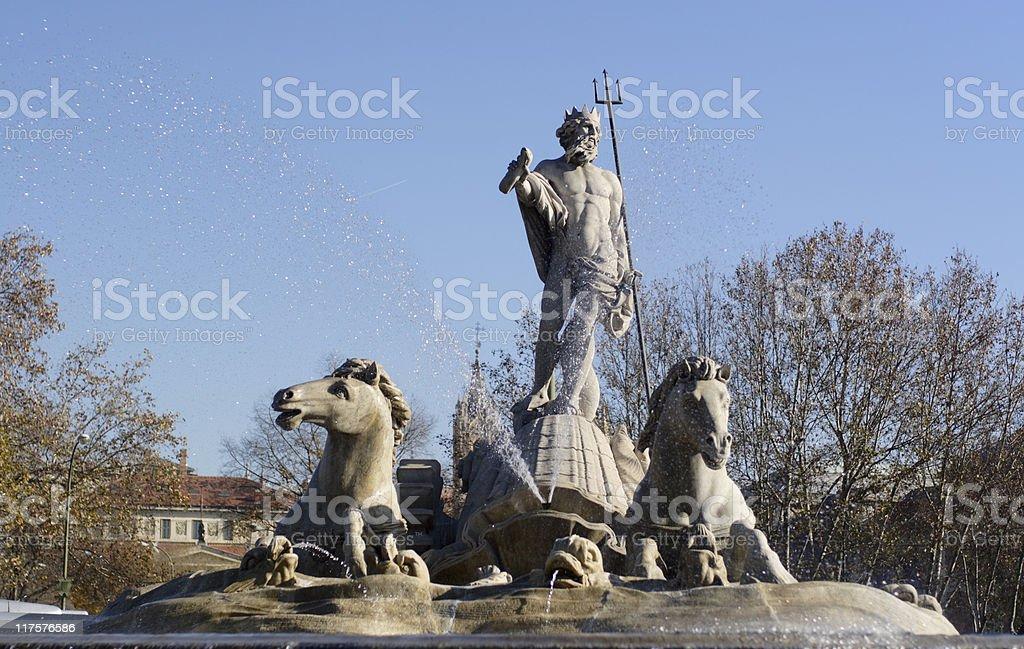 Neptune Fountain royalty-free stock photo