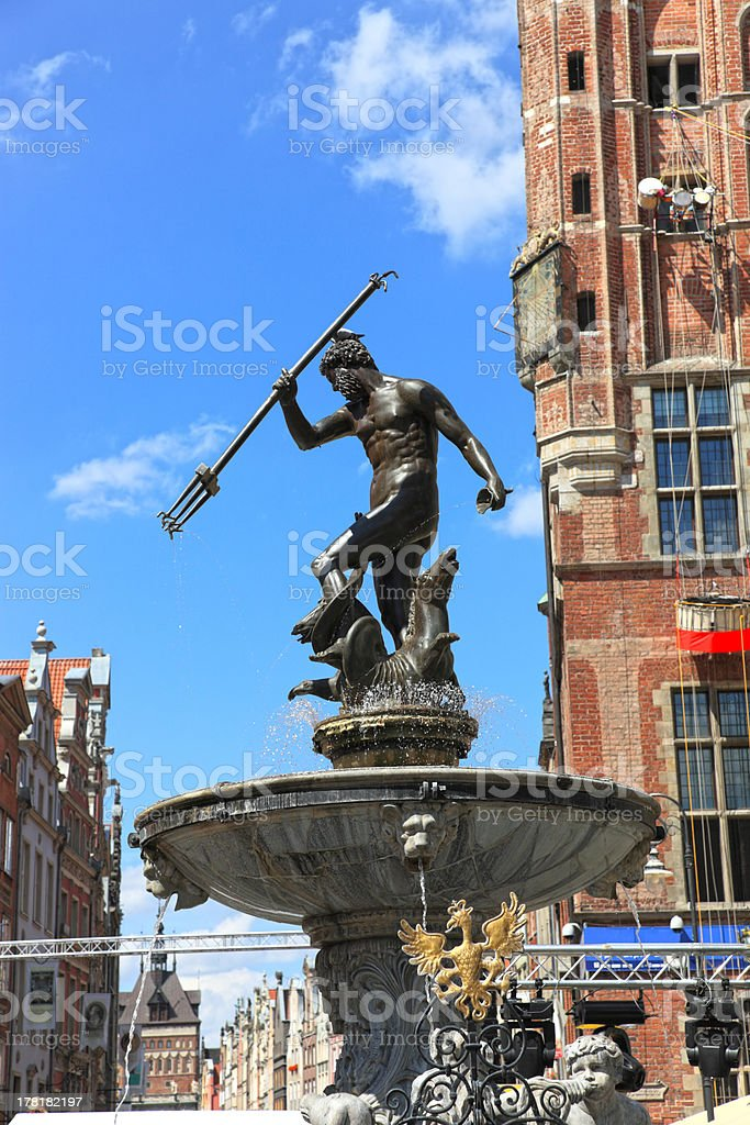 Neptune Fountain stock photo
