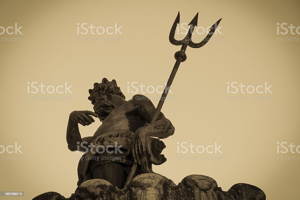 Neptune Fountain, Trento royalty-free stock photo