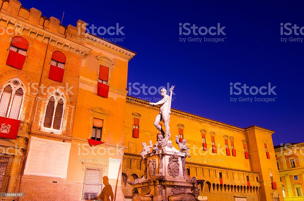 Neptune in Bologna stock photo
