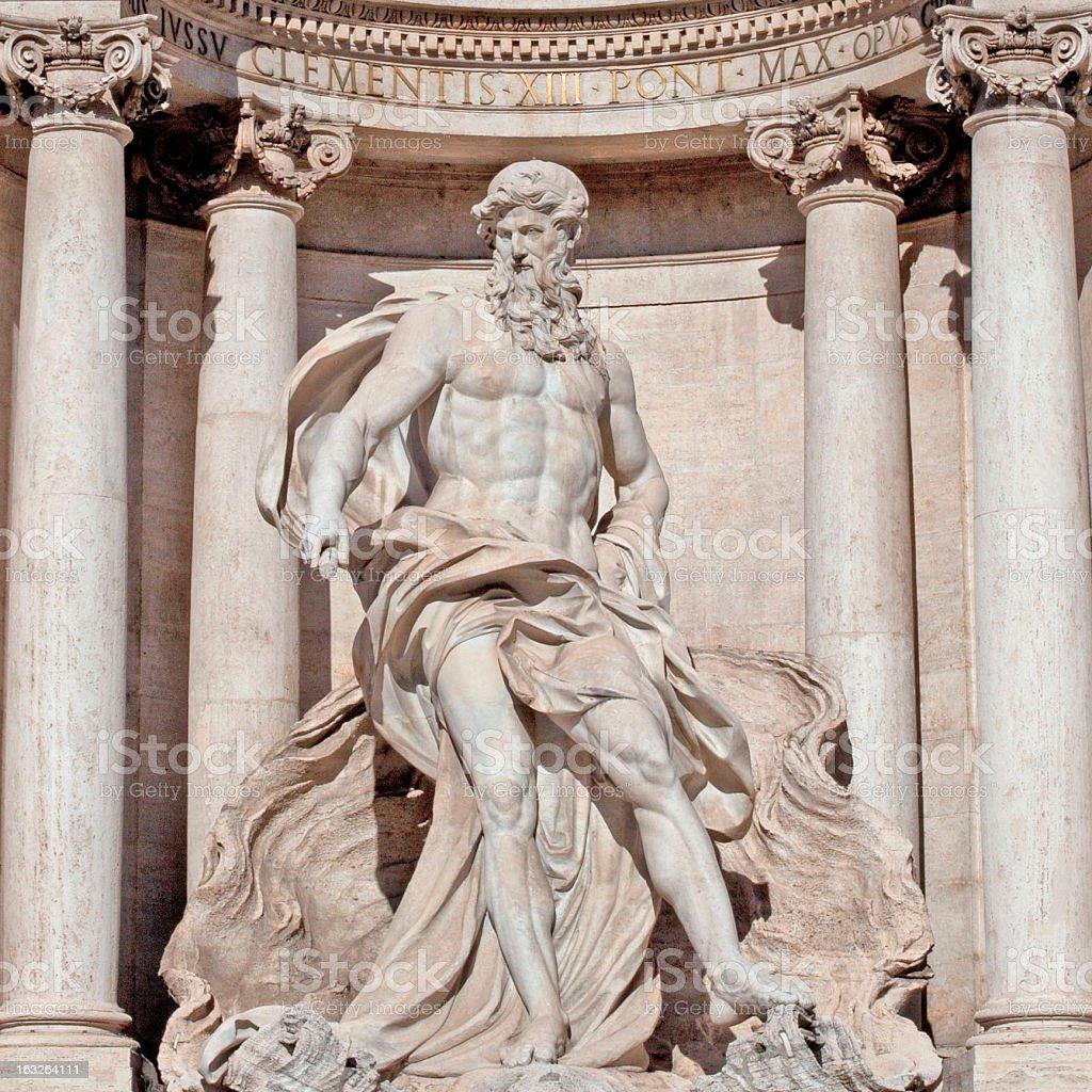 Neptune in Fontana di Trevi royalty-free stock photo