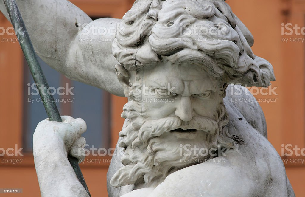 Neptune in Piazza Navona royalty-free stock photo