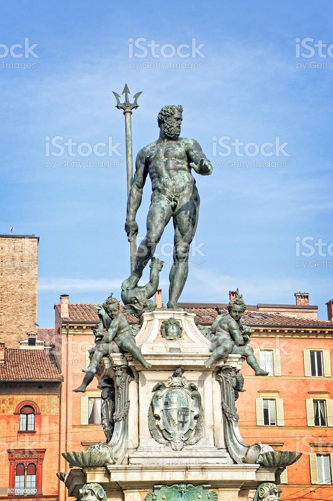 Neptune statue  - Bologna Italy stock photo