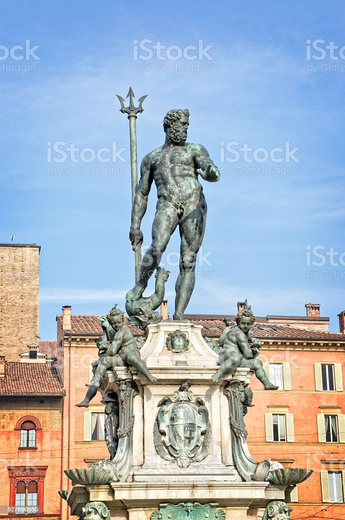 Neptune statue  - Bologna Italy stock photo