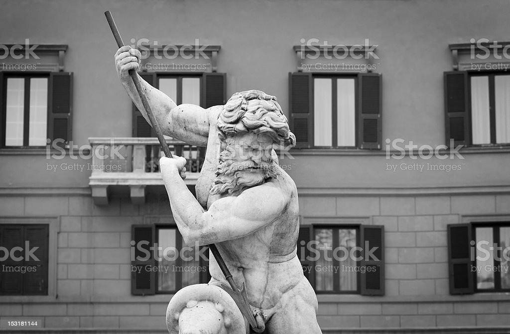 Neptune Statue Masterpiece in Rome stock photo
