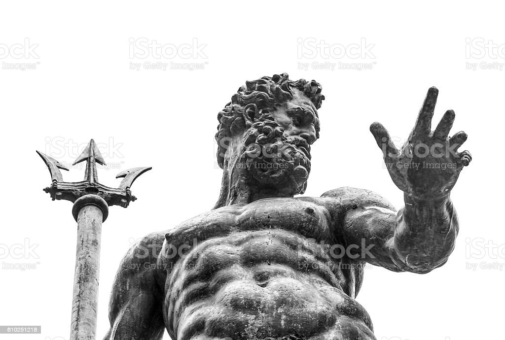 Neptune statue stock photo
