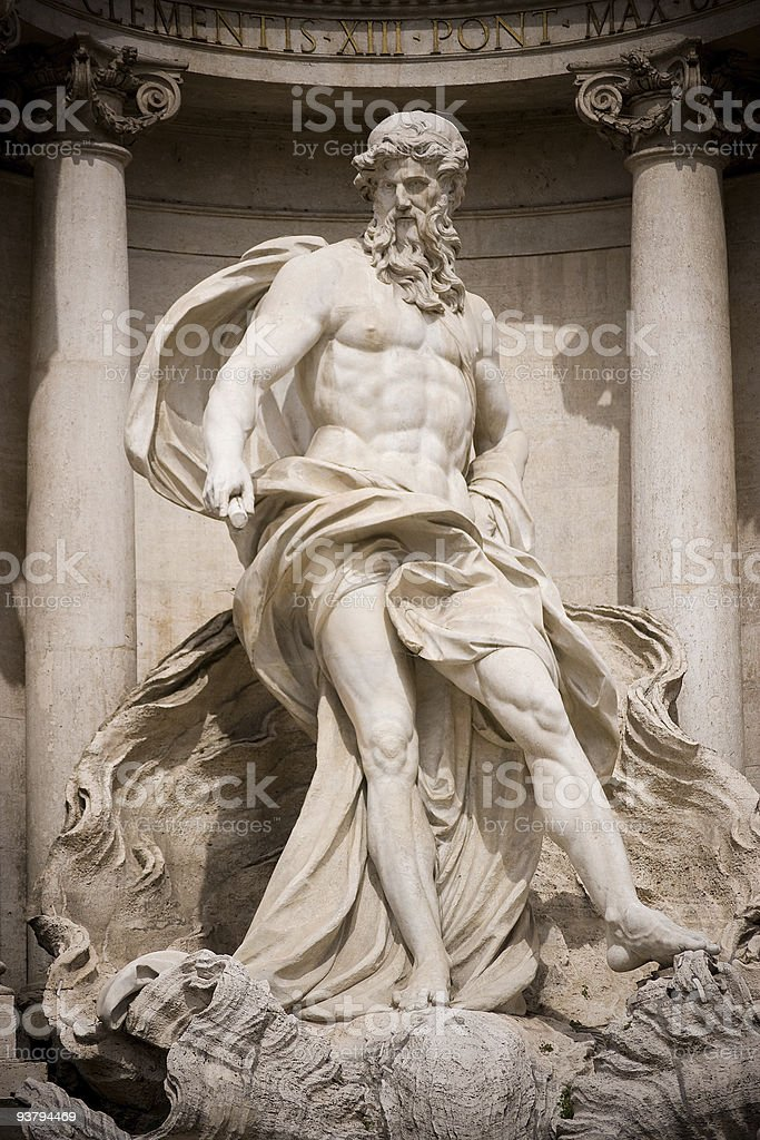 Neptune statue royalty-free stock photo