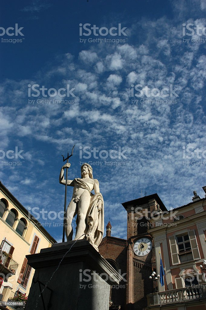 neptune under the blue sky royalty-free stock photo