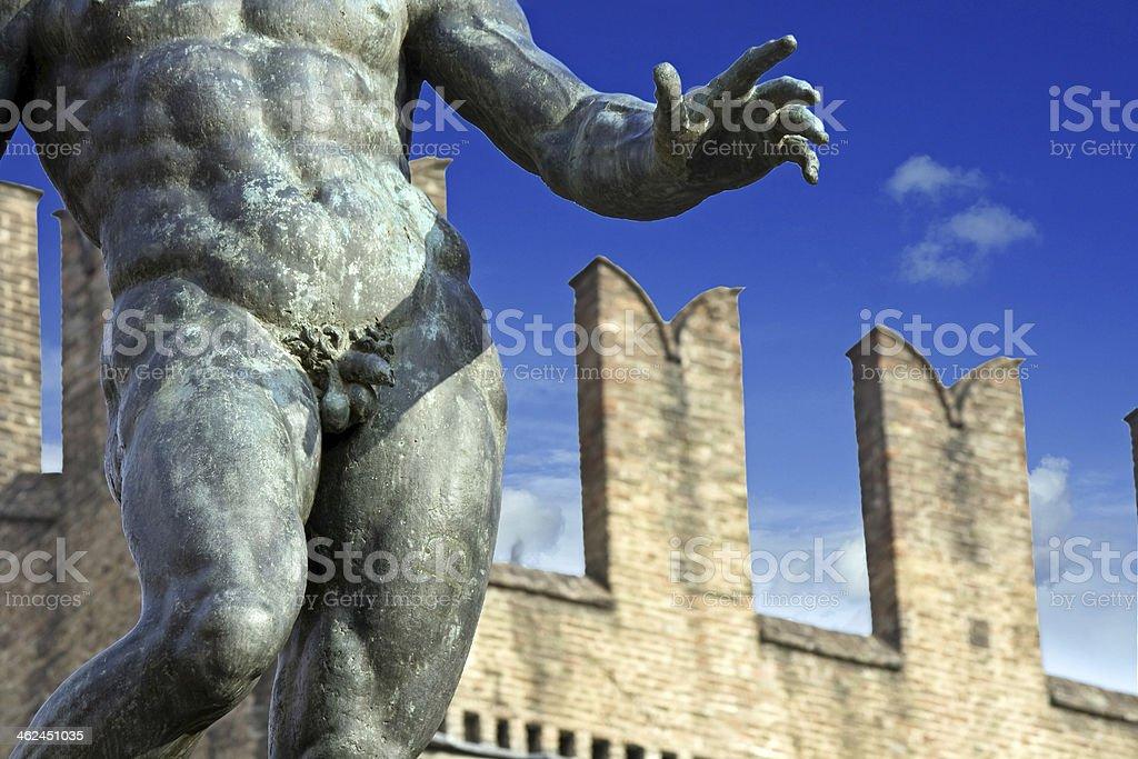 neptune's penis - bologna, italy stock photo