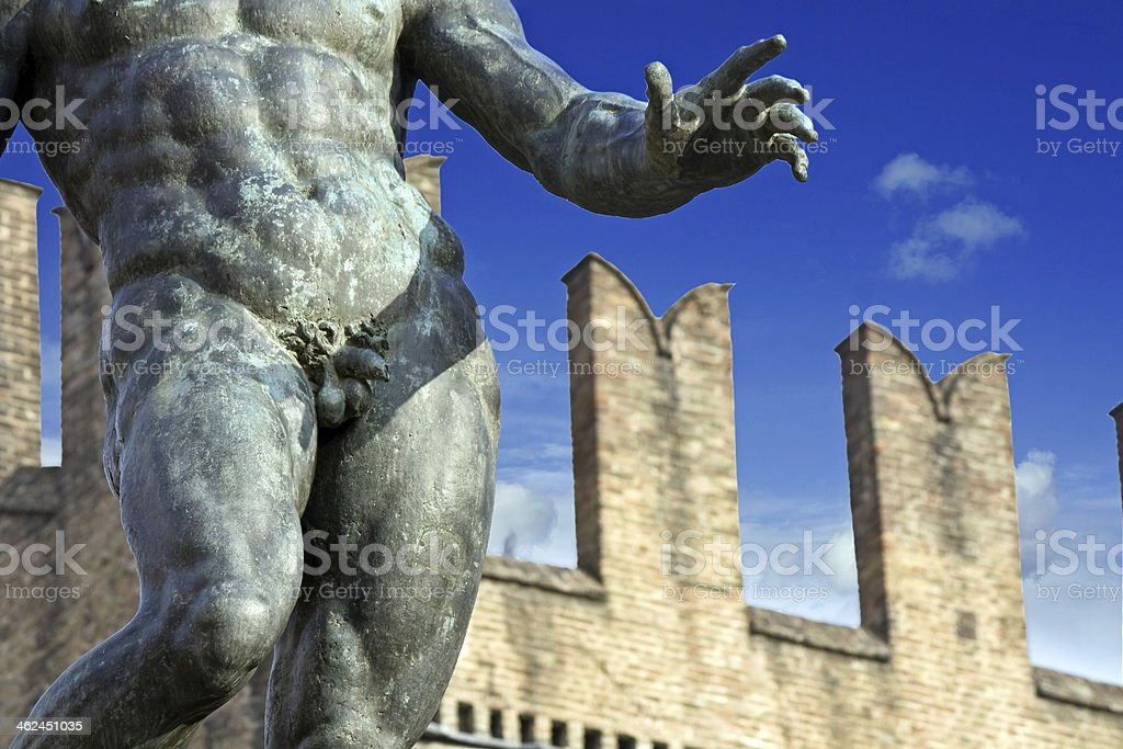neptune's penis - bologna, italy stock photo