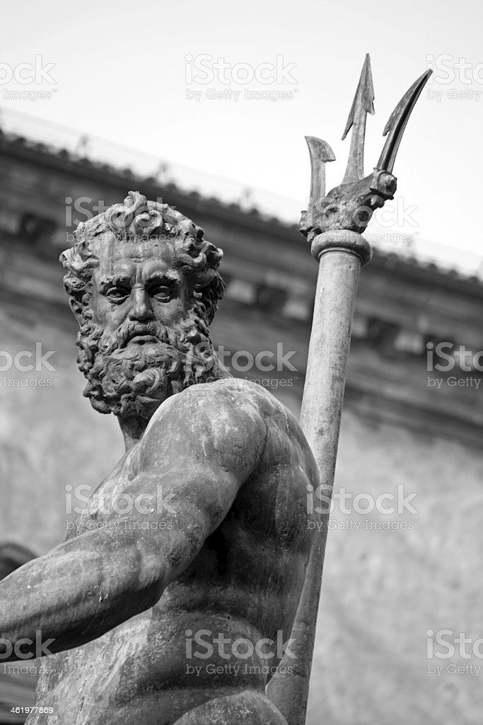 neptuno's portrait - bologna, piazza maggiore stock photo