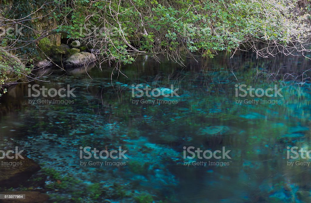 Nera river stock photo
