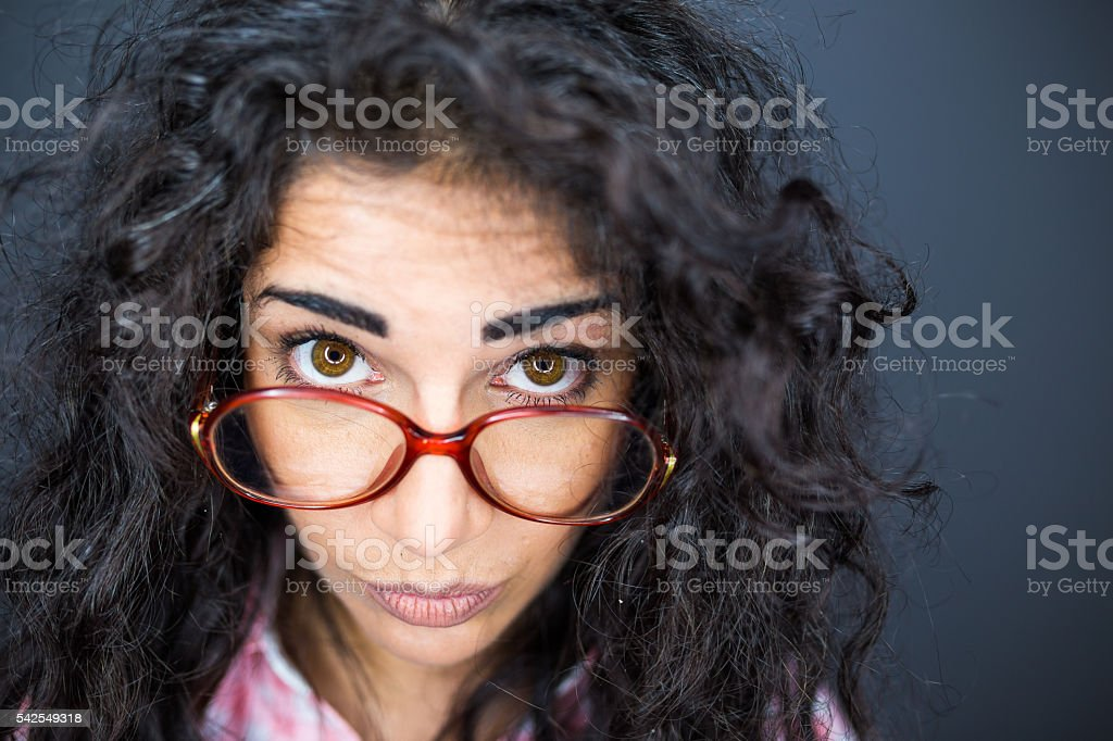 Nerd and like it stock photo