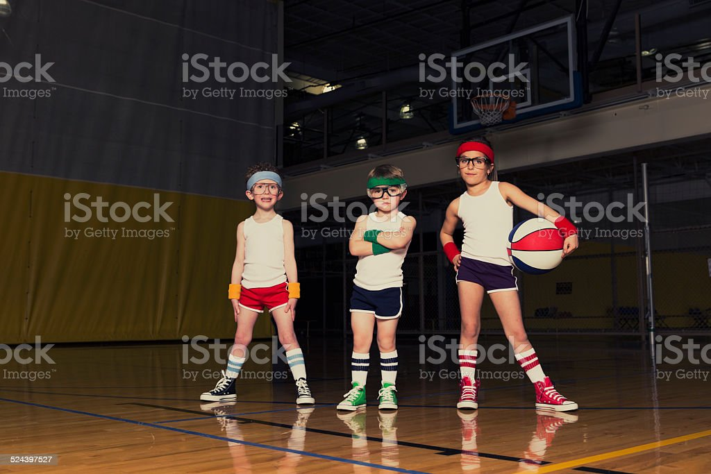 Nerd Basketball Team stock photo