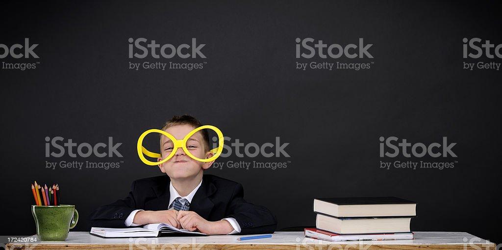 nerd boy royalty-free stock photo