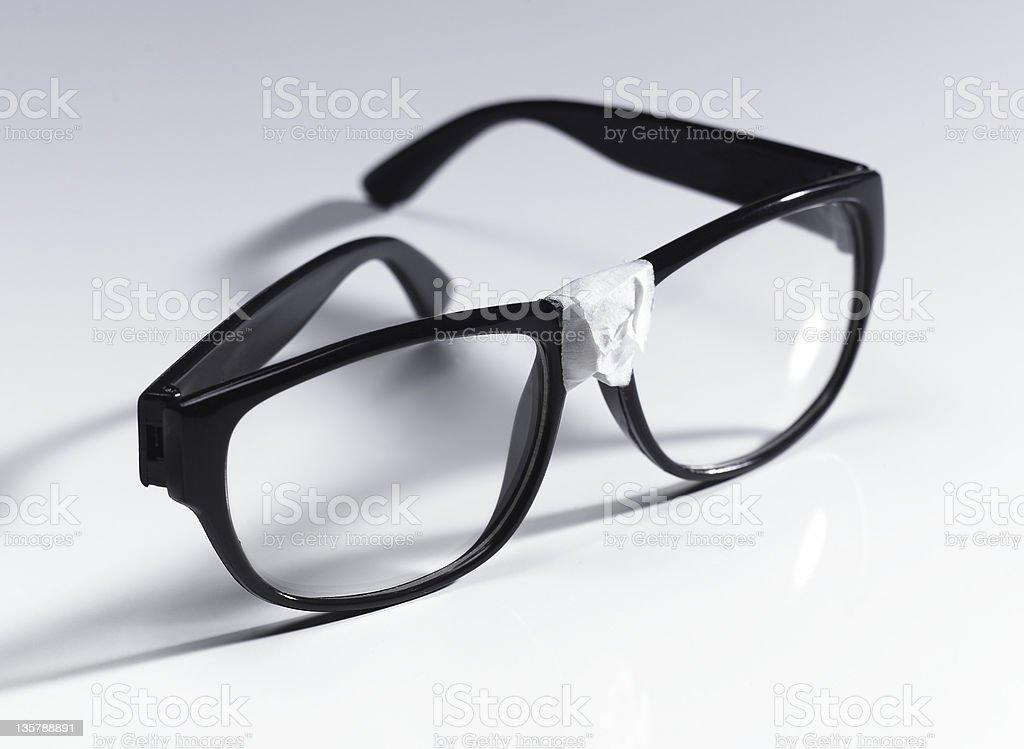 Nerd eyeglasses stock photo