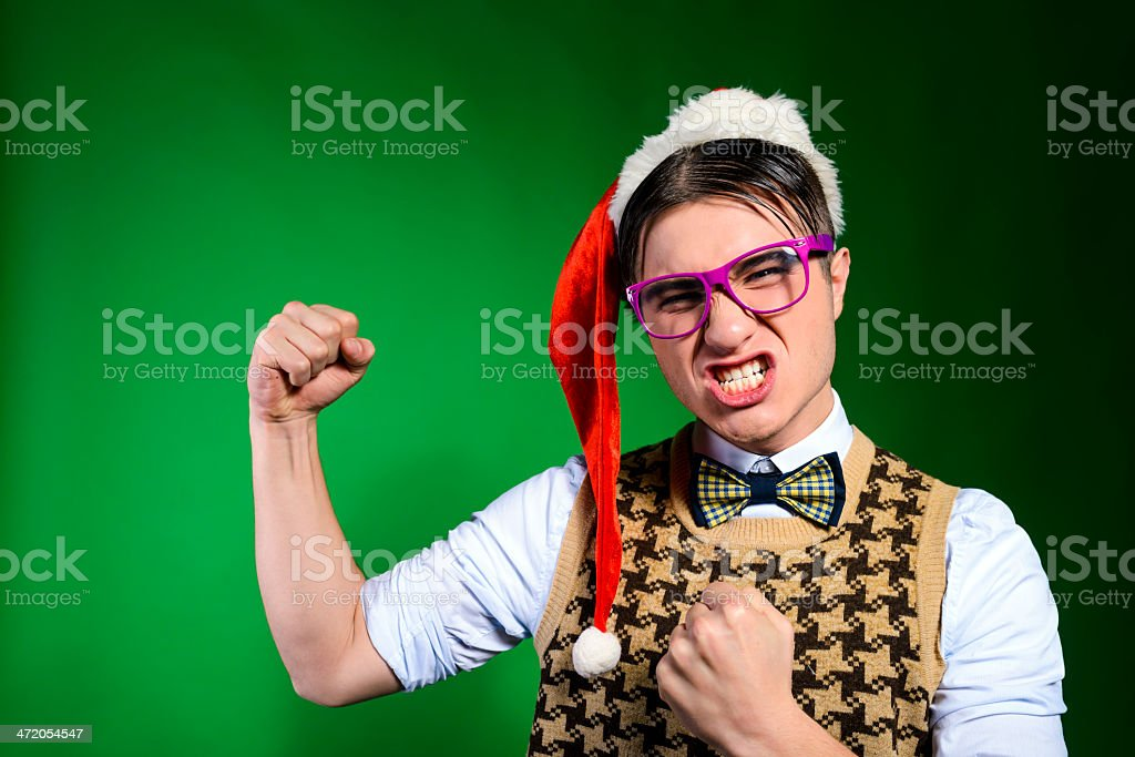 nerd fighting royalty-free stock photo
