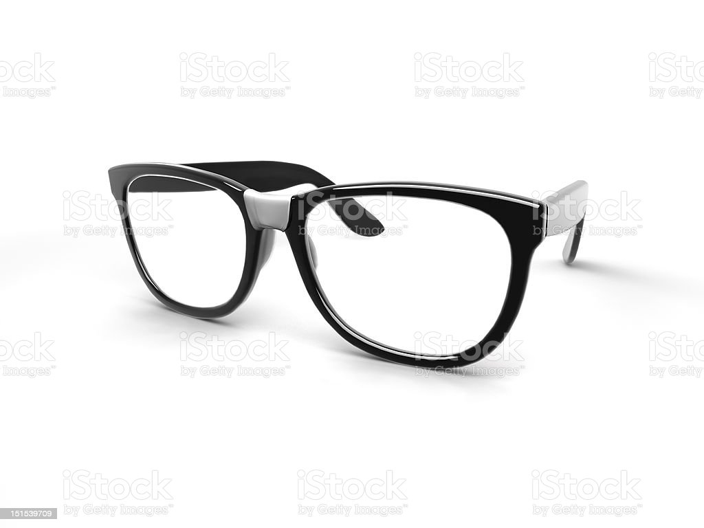 Nerd Glasses stock photo