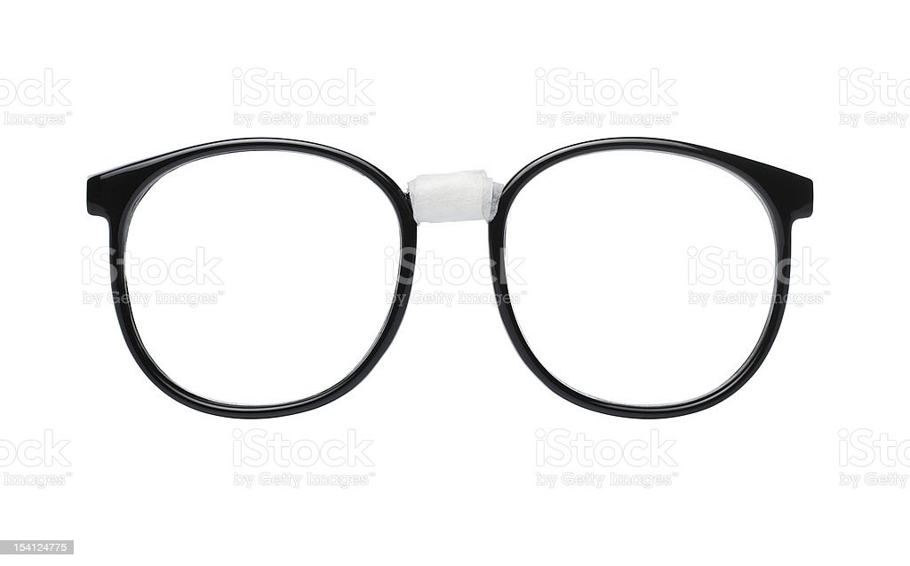 Nerd glasses with clipping path stock photo