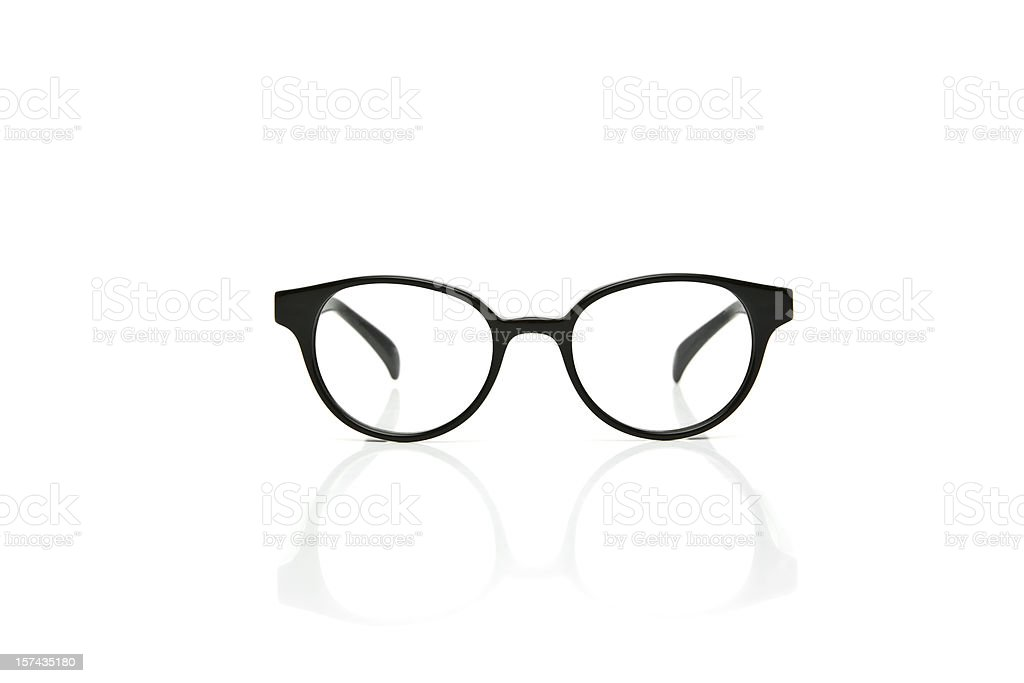 Nerd Glasses with reflection royalty-free stock photo