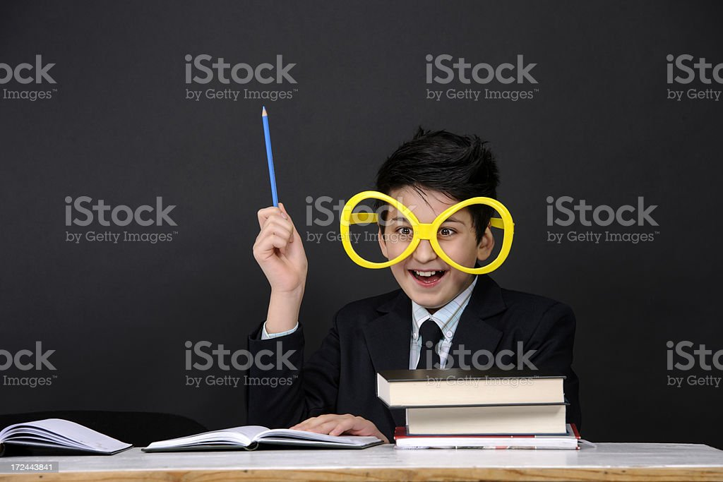 nerd grimacing royalty-free stock photo