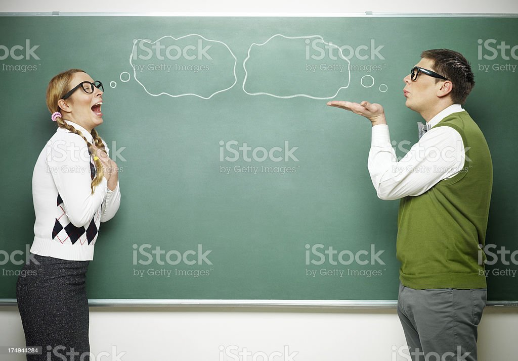 Nerd in love royalty-free stock photo