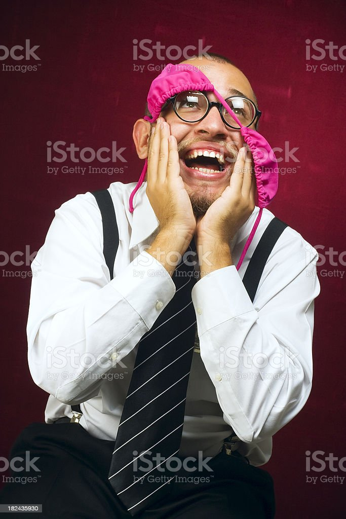 Nerd in srip club royalty-free stock photo