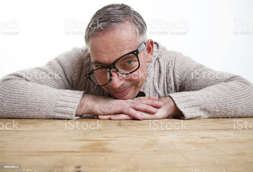 nerd looking funny royalty-free stock photo