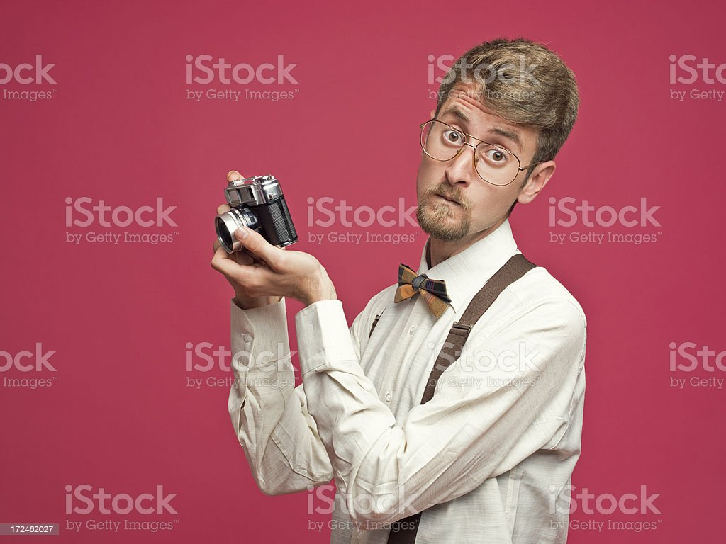 Nerd Photographer royalty-free stock photo