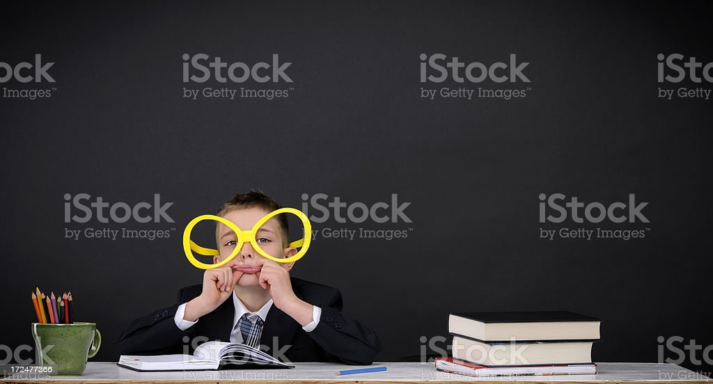 nerd school boy royalty-free stock photo