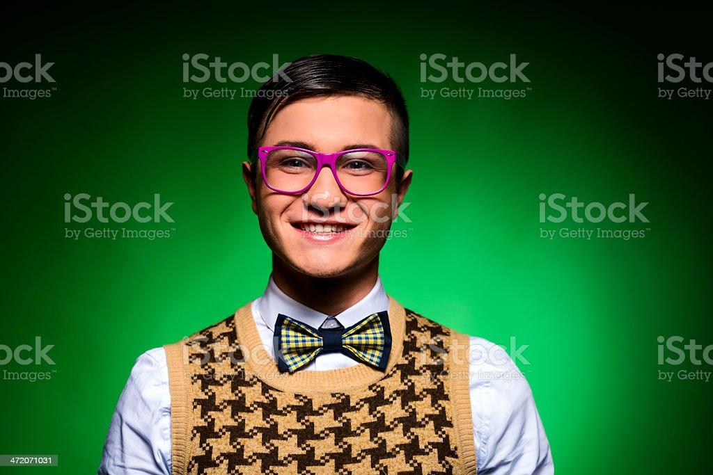 nerd smiling royalty-free stock photo
