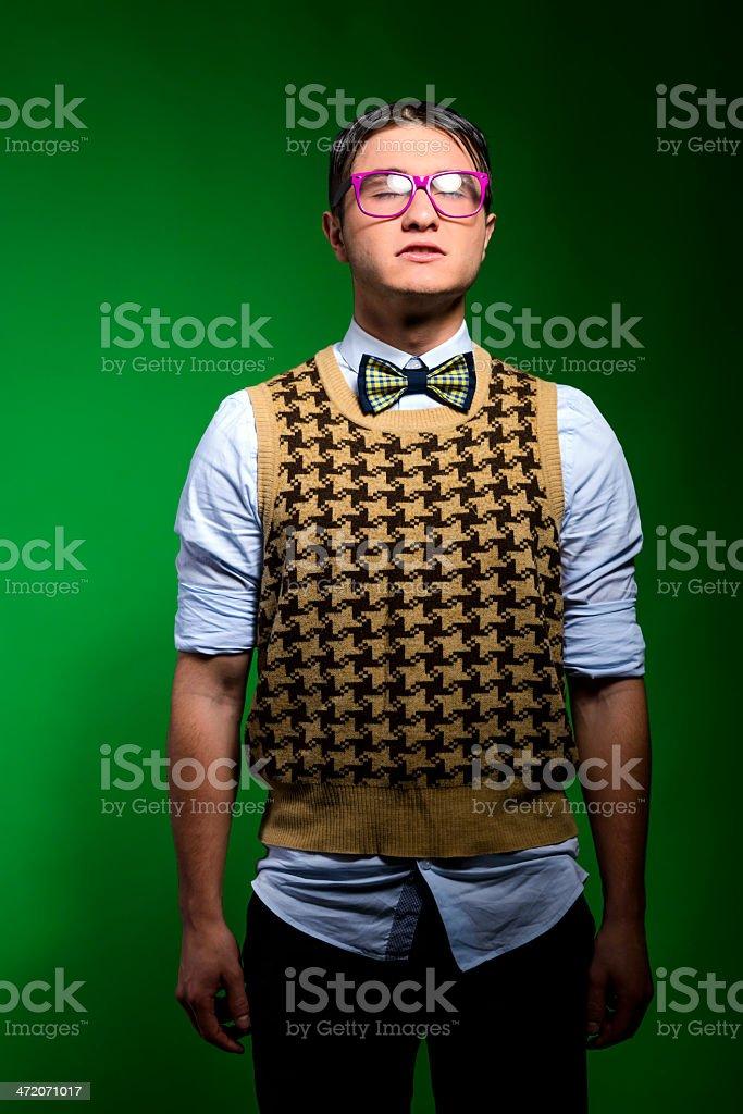 nerd waiting royalty-free stock photo