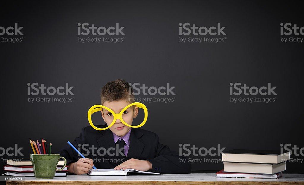 nerd wearing eyeglasses royalty-free stock photo