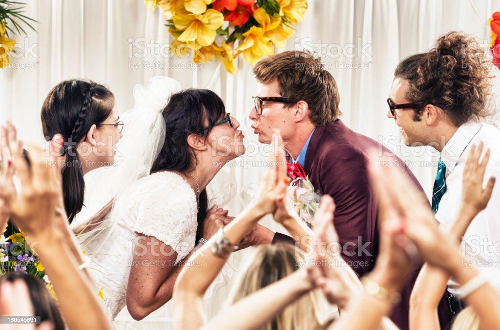 Nerd Wedding royalty-free stock photo