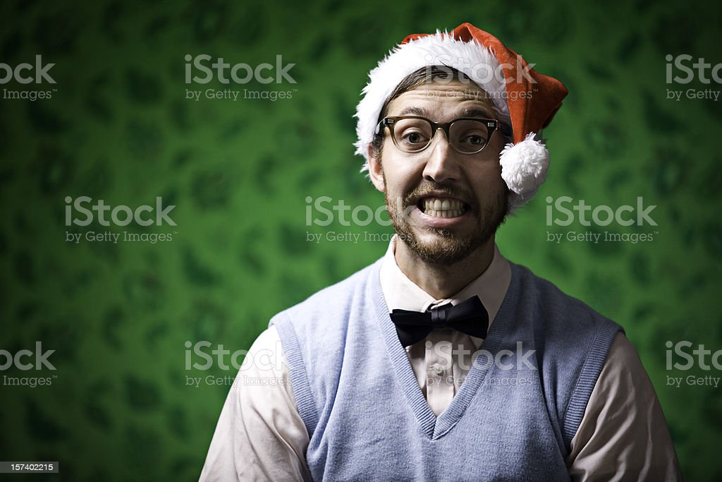 Nerdy Christmas royalty-free stock photo