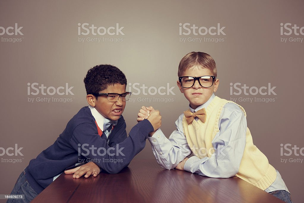Nerdy Competition stock photo