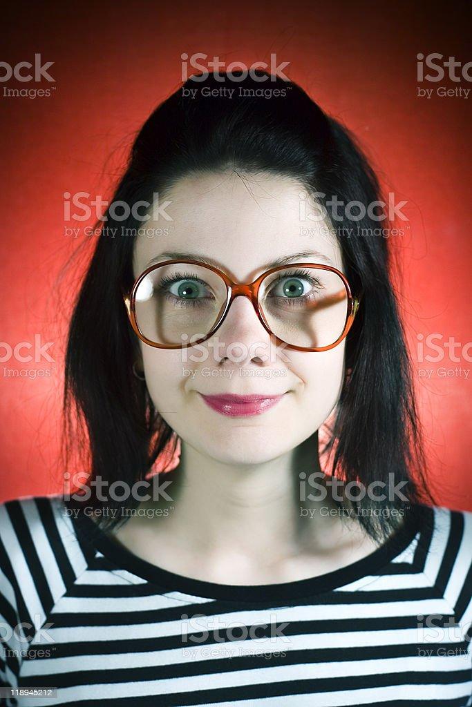 Nerdy girl royalty-free stock photo