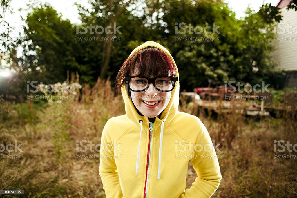 Nerdy glasses girl royalty-free stock photo