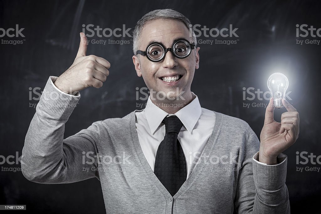 Nerdy idea! royalty-free stock photo