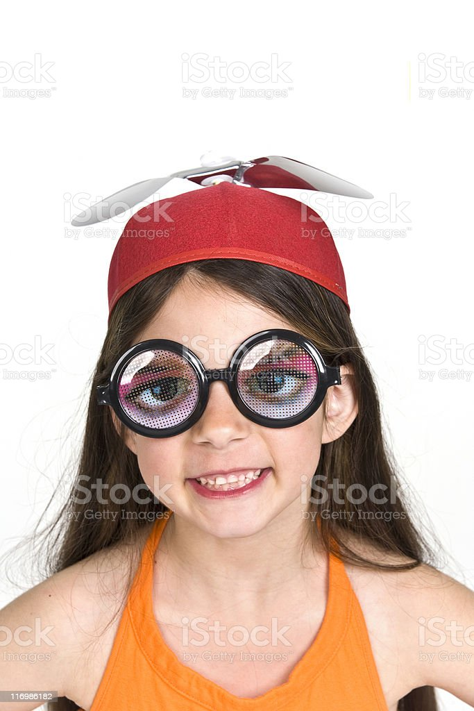 Nerdy Look stock photo