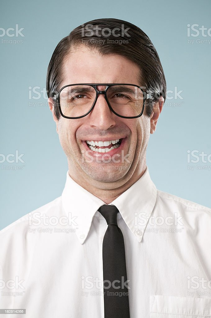 Nerdy Office Worker With Attitude royalty-free stock photo