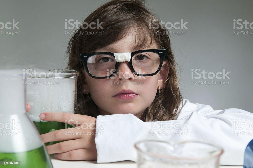 Nerdy Science Student stock photo