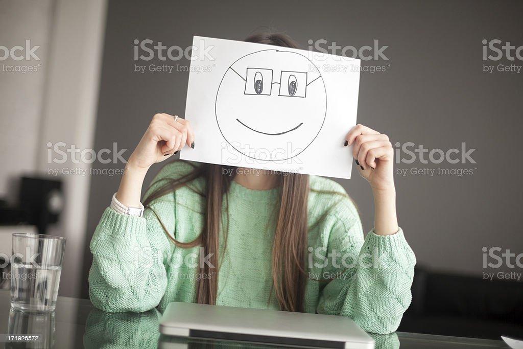 Nerdy smile royalty-free stock photo
