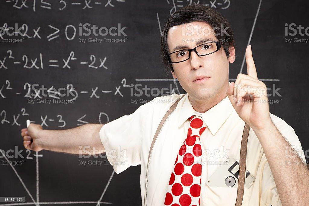 Nerdy teacher royalty-free stock photo